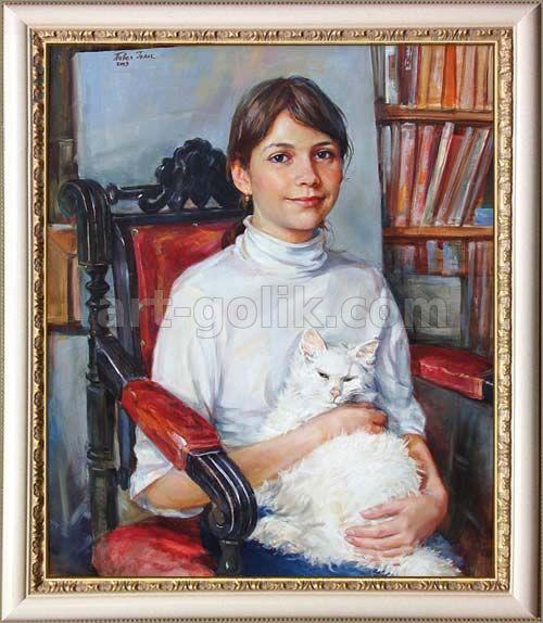 портрет масляными красками с фотографии