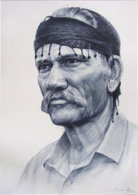 Προσωπογραφία με στεγνό πινέλο