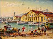 Fisherman in the port Alexandroupolis