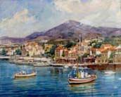 Greek village by the sea