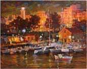 Evening city Alexandroupoli