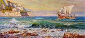 Wave at the shore of Kerkyra
