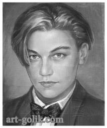 пастельной карандаш - портрет Ди Каприо