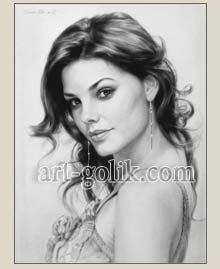 портрет с фотографии на заказ - Лиза Боярская