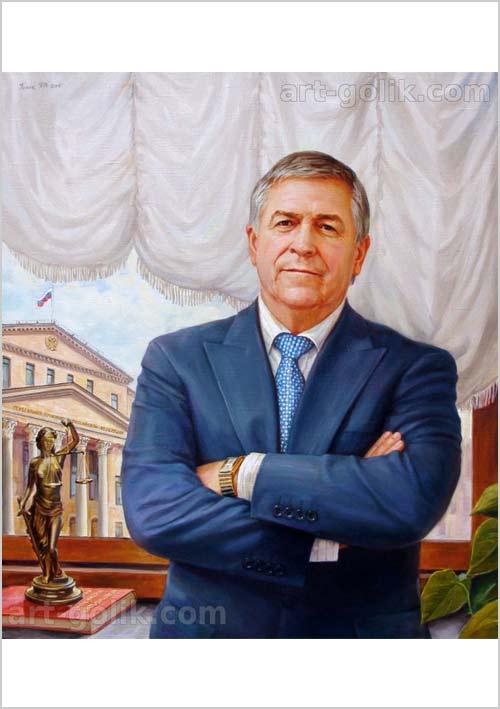 парадный портрет маслом на холсте - художник Голик Павел