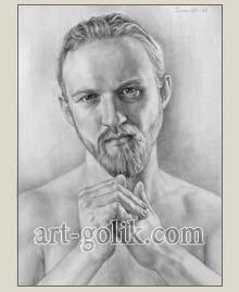мужчина нарисованный карандашом