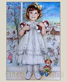 Девочка - рисунок