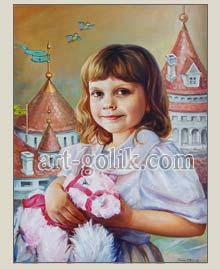 детский портрет, холст масло